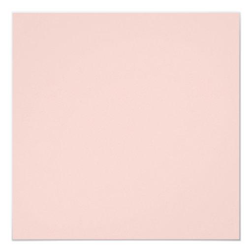 """Plantilla rosa clara del espacio en blanco de la invitación 5.25"""" x 5.25"""""""