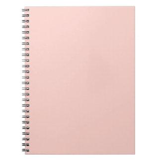 Plantilla rosa clara del espacio en blanco de la t cuadernos