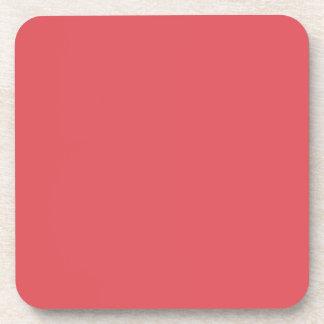 Plantilla rosada amelocotonada de color salmón del posavasos