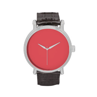Plantilla rosada amelocotonada de color salmón del relojes