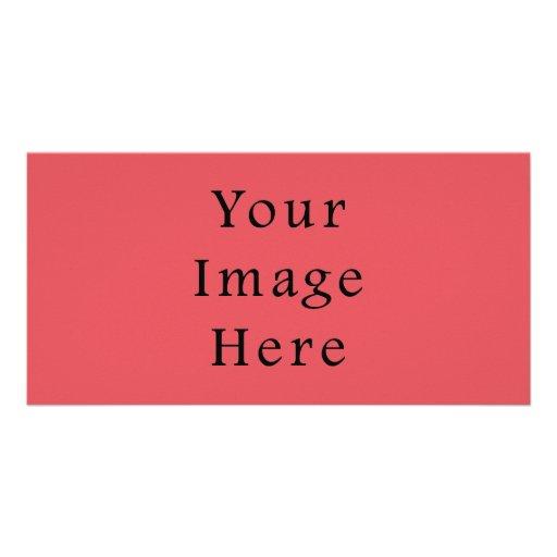 Plantilla rosada amelocotonada de color salmón del tarjetas fotográficas personalizadas
