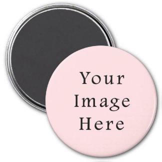 Plantilla rosada amelocotonada ligera del espacio imanes