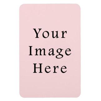 Plantilla rosada amelocotonada ligera del espacio imán flexible