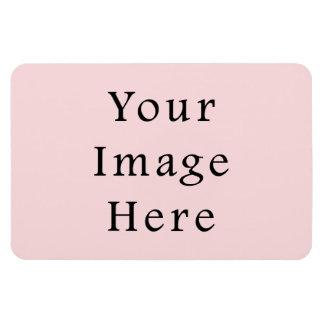 Plantilla rosada amelocotonada ligera del espacio imán