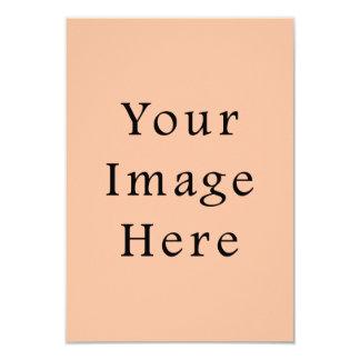 """Plantilla rosada beige amelocotonada de la invitación 3.5"""" x 5"""""""
