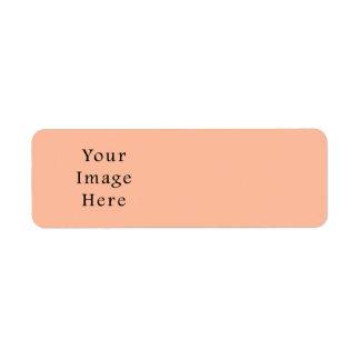 Plantilla rosada beige amelocotonada de la tendenc etiquetas de remite