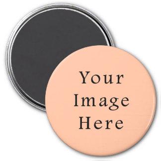Plantilla rosada beige amelocotonada de la tendenc imanes de nevera