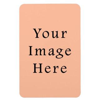 Plantilla rosada beige amelocotonada de la tendenc iman flexible