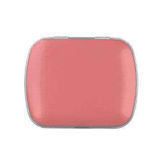 Plantilla rosada coralina del espacio en blanco de jarrones de dulces