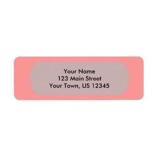 Plantilla rosada de Bubblegum para personalizar Etiquetas De Remite