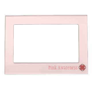 Plantilla rosada de la cinta del trébol foto de imanes