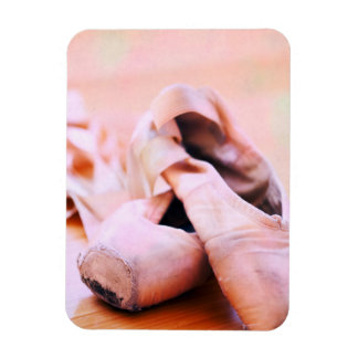 Plantilla rosada de la danza de los zapatos de imanes de vinilo