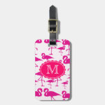 Plantilla rosada de la etiqueta del bolso del viaj etiquetas bolsas