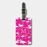 Plantilla rosada de la etiqueta del bolso del viaj etiquetas para maletas