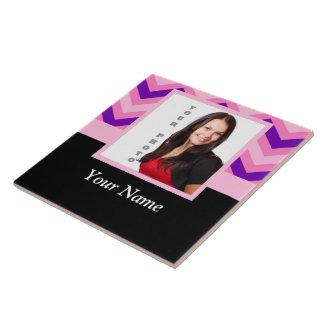 Plantilla rosada de la foto del galón azulejo cuadrado grande