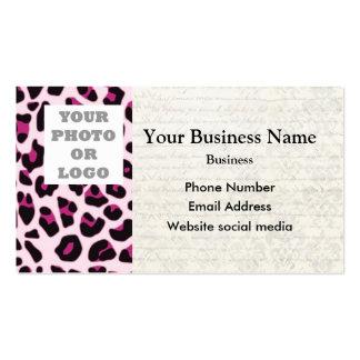 Plantilla rosada de la foto del modelo del tarjetas de visita