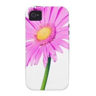 Plantilla rosada de la margarita - modificada para Case-Mate iPhone 4 carcasas