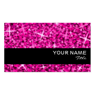 Plantilla rosada de la tarjeta de visita de la ray