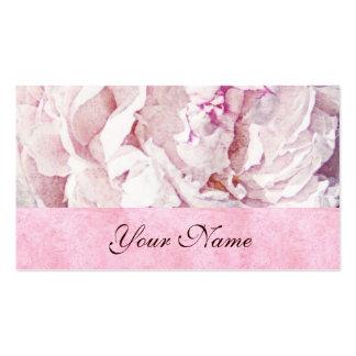 plantilla rosada de la tarjeta de visita de los