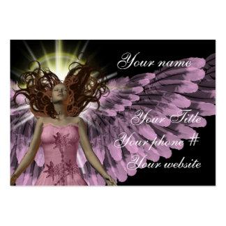 Plantilla rosada de la tarjeta de visita del ángel