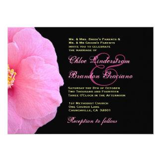 Plantilla rosada del boda de la camelia comunicados