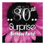 Plantilla rosada del cumpleaños de la sorpresa del anuncios