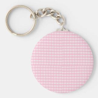 Plantilla rosada del fondo de la tela del tablero  llavero personalizado