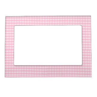 Plantilla rosada del fondo de la tela del tablero marcos magnéticos