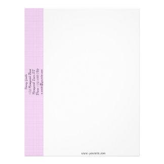 Plantilla rosada del papel con membrete del panal membrete personalizado