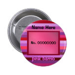 plantilla rosada del texto del barrio hispano pin