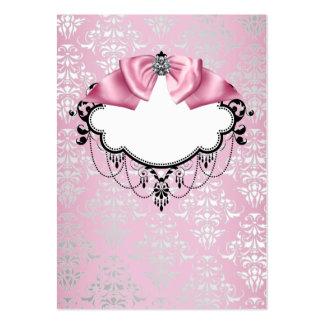Plantilla rosada elegante de la tarjeta de visita