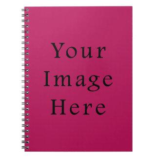 Plantilla rosada púrpura fucsia ligera de la tende spiral notebook