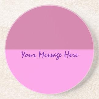 plantilla rosada púrpura simple posavasos de arenisca