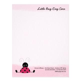 Plantilla rosada suave del papel con membrete de l plantillas de membrete