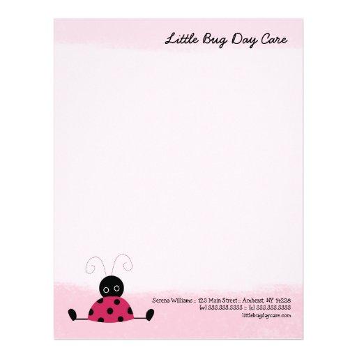 Plantilla rosada suave del papel con membrete de l plantilla de membrete