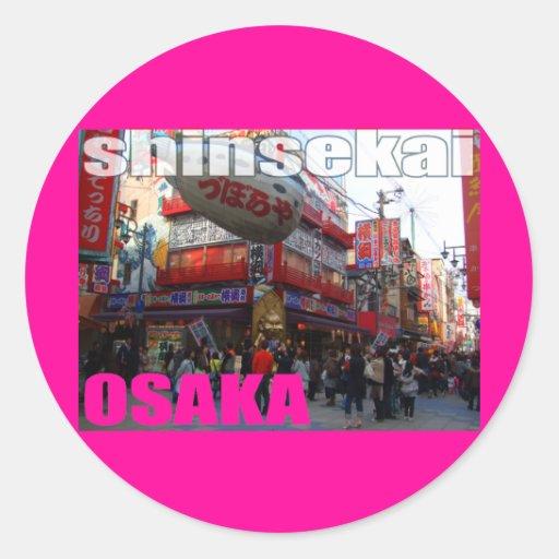 Plantilla SHINSEKAI del pegatina en Osaka 02