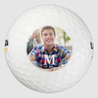 Plantilla simple de la foto del golfista pack de pelotas de golf