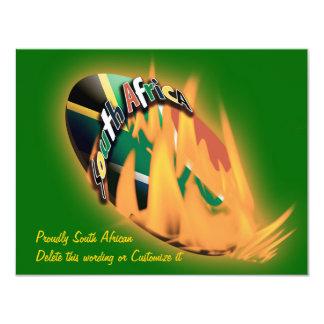 Plantilla surafricana de las invitaciones del invitación 10,8 x 13,9 cm