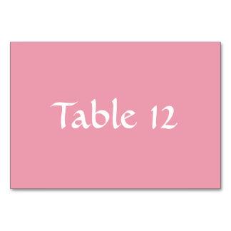 Plantilla Tablecard del rosa color de rosa