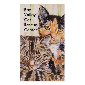Plantilla temática de la tarjeta de visita del gat