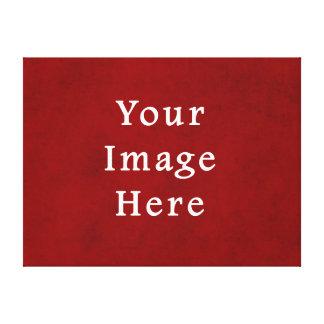 Plantilla texturizada carmesí rojo del pergamino d impresiones en lona estiradas