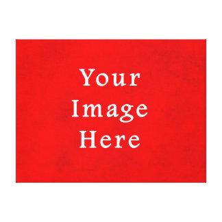 Plantilla texturizada rojo del color del pergamino lienzo envuelto para galerías