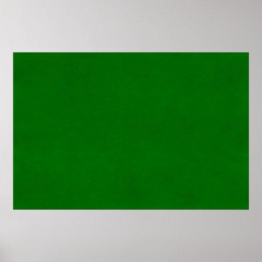 Plantilla texturizada verde del color del pergamin poster