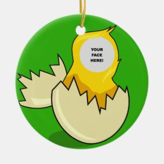 Plantilla, tramando el polluelo adornos de navidad