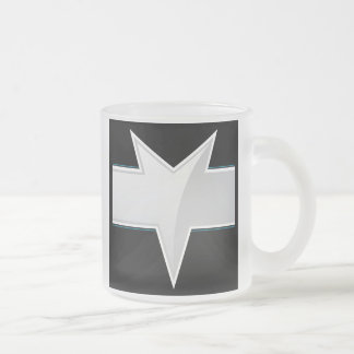 Plantilla triangular de la etiqueta del producto taza de café