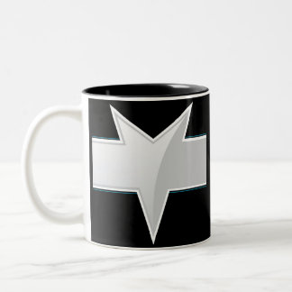 Plantilla triangular de la etiqueta del producto taza