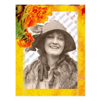 Plantilla tropical de la foto de las fronteras tarjetas postales