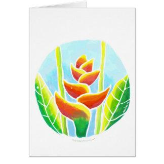 Plantilla tropical de la tarjeta del batik de la f
