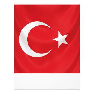 """plantilla turca del aviador de la bandera nacional folleto 8.5"""" x 11"""""""