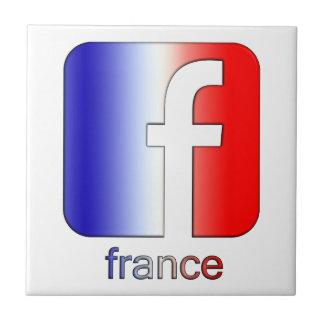 Plantilla única del regalo del logotipo de Francia Teja